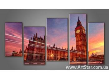 Модульная картина Панорама Лондона (5) 14