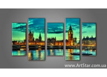 Модульная картина Панорама Лондона (5) 15