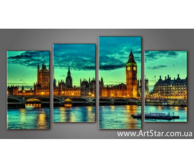 Модульная картина Панорама Лондона (4) 13
