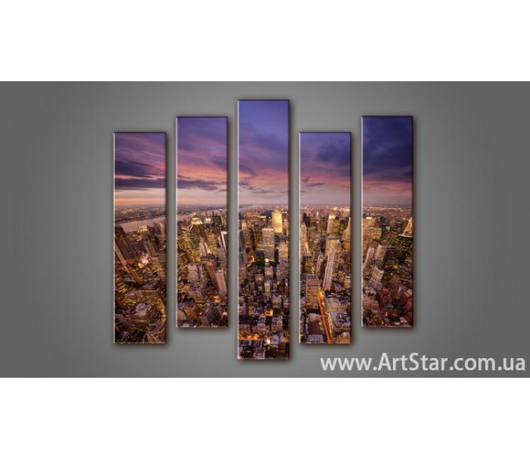 Модульная картина Панорама города (5) 12