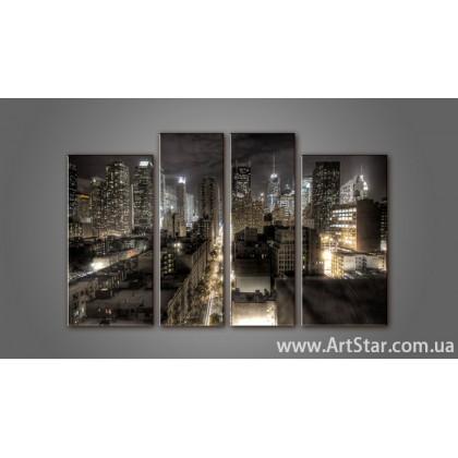 Модульная картина Панорама города (4) 13