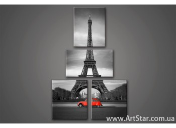 Модульная картина Париж (4)