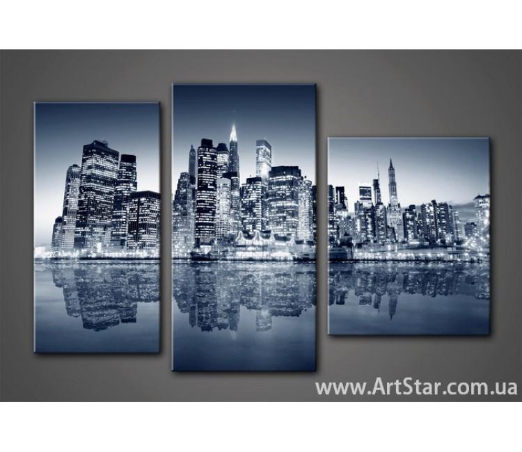 Модульная картина Город 12