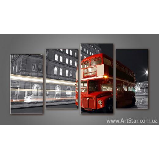 Модульная картина Панорама Лондон (4)