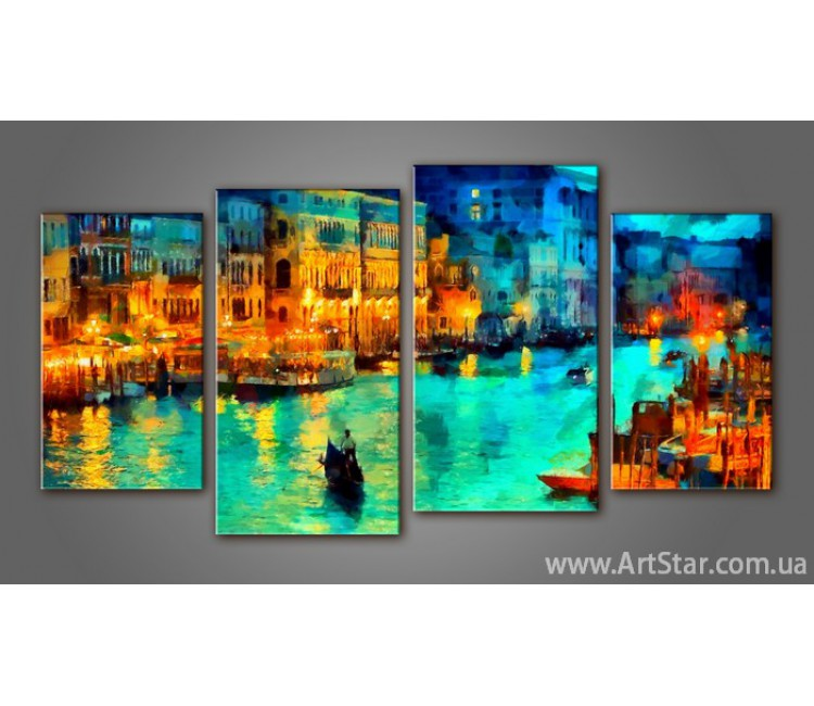 Модульная картина Панорама Венеция (4)