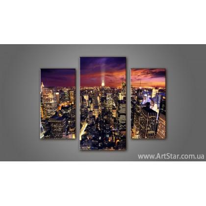 Модульная картина Панорама Города 6