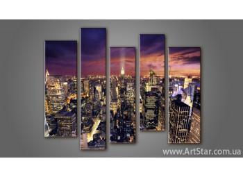 Модульная картина Панорама Город (5)