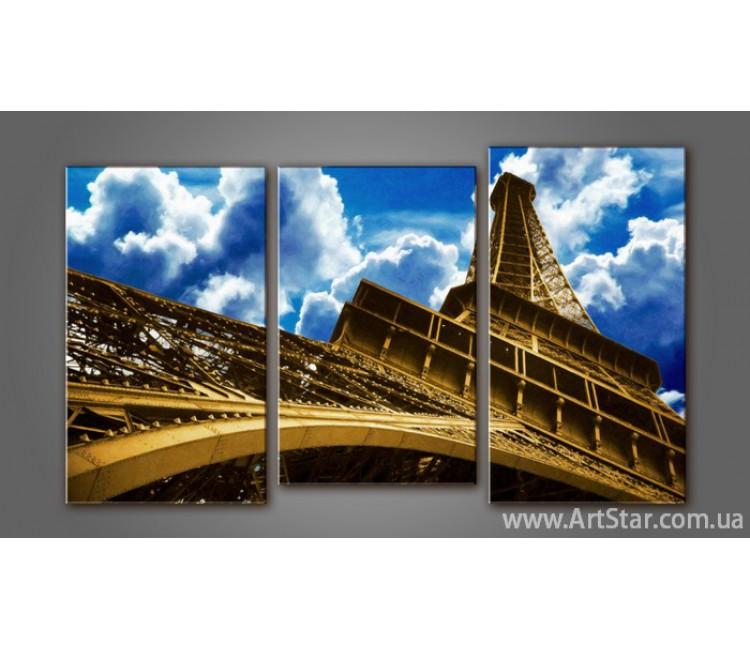 Модульная картина Панорама Париж