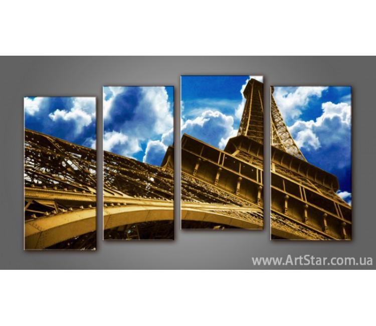 Модульная картина Панорама Париж (4)