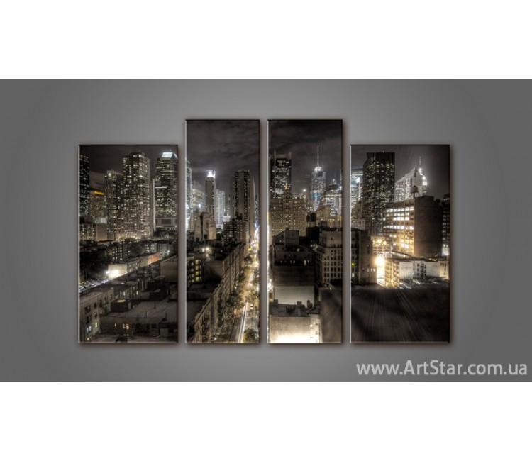 Модульная картина Панорама Город (4) 2