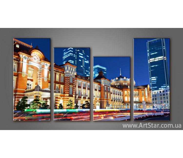 Модульная картина Панорама Город (4) 3