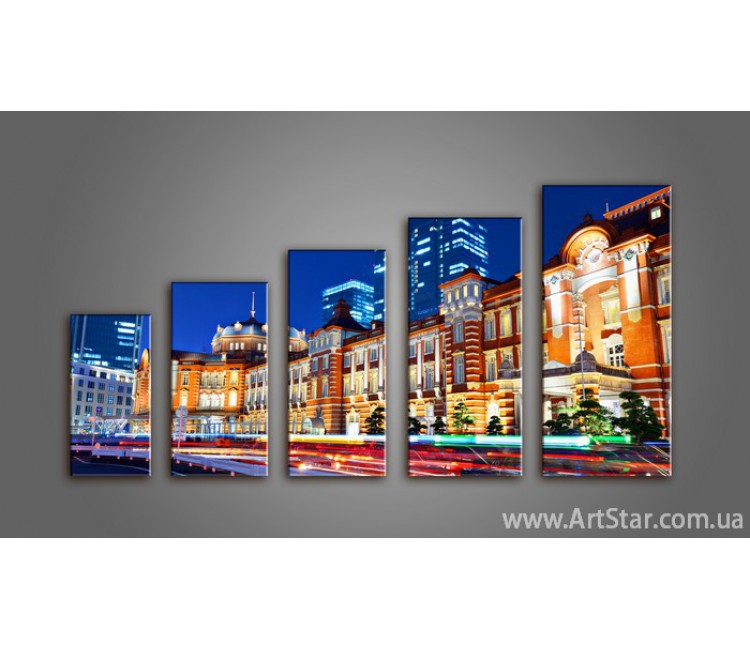 Модульная картина Панорама Город (5) 3