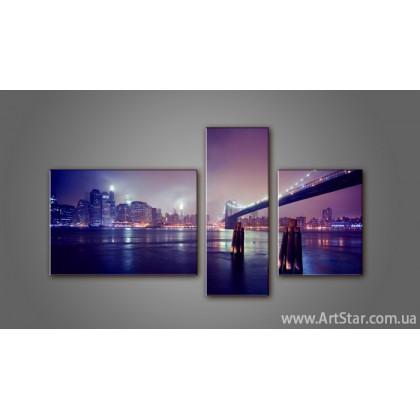 Модульная картина Панорама Бруклинский Мост
