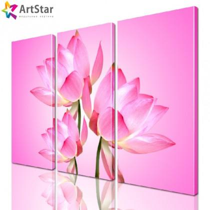 Модульная картина - Цветы, Art. flrs_0024