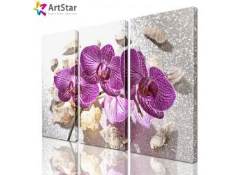 Модульная картина - Цветы, Art. flrs_0025