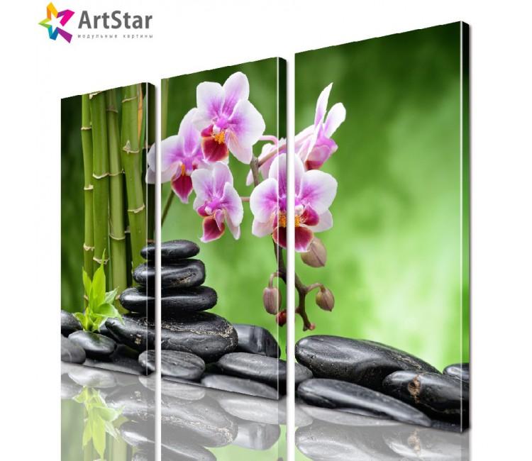 Модульная картина - Цветы, Art. flrs_0034