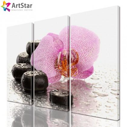 Модульная картина - Цветы, Art. flrs_0040