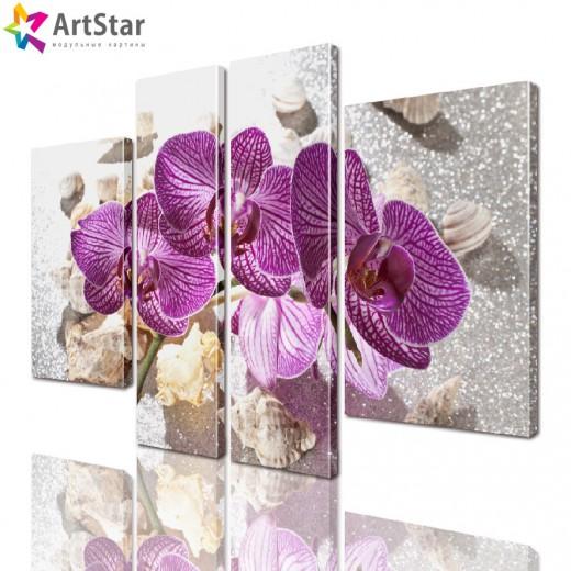 Модульная картина - Цветы, Art. flrs_0145