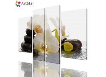 Модульная картина - Цветы, Art. flrs_0148