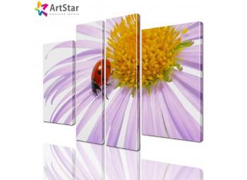 Модульная картина - Цветы, Art. flrs_0149