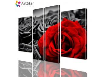 Модульная картина - Цветы, Art. flrs_0156