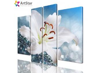Модульная картина - Цветы, Art. flrs_0157