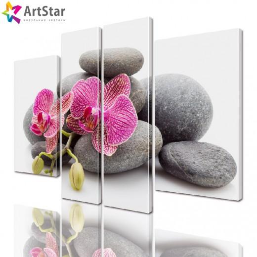 Модульная картина - Цветы, Art. flrs_0158