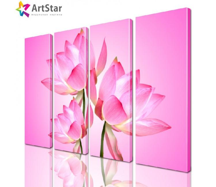 Модульная картина - Цветы, Art. flrs_0104