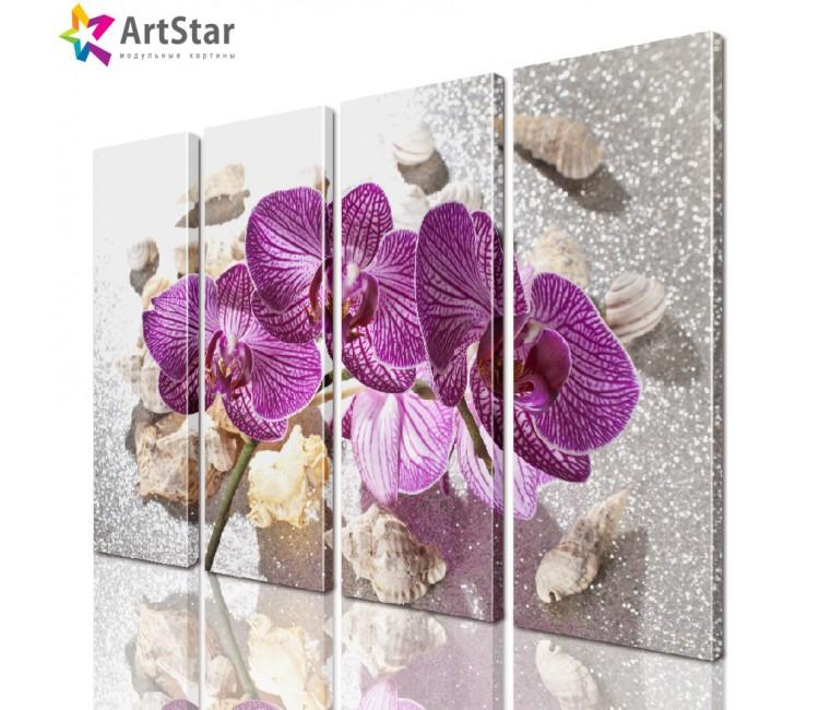 Модульная картина - Цветы, Art. flrs_0105