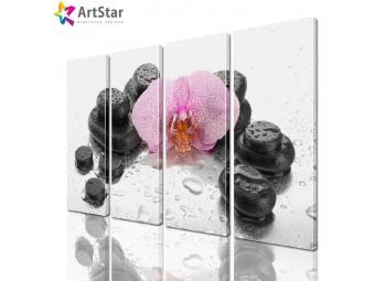 Модульная картина - Цветы, Art. flrs_0107