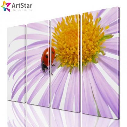 Модульная картина - Цветы, Art. flrs_0109
