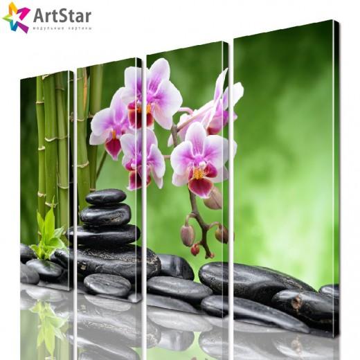 Модульная картина - Цветы, Art. flrs_0114