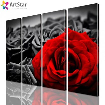 Модульная картина - Цветы, Art. flrs_0116