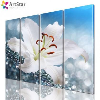 Модульная картина - Цветы, Art. flrs_0117