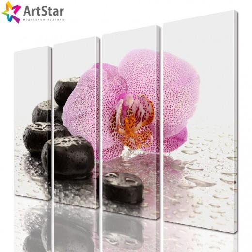 Модульная картина - Цветы, Art. flrs_0120