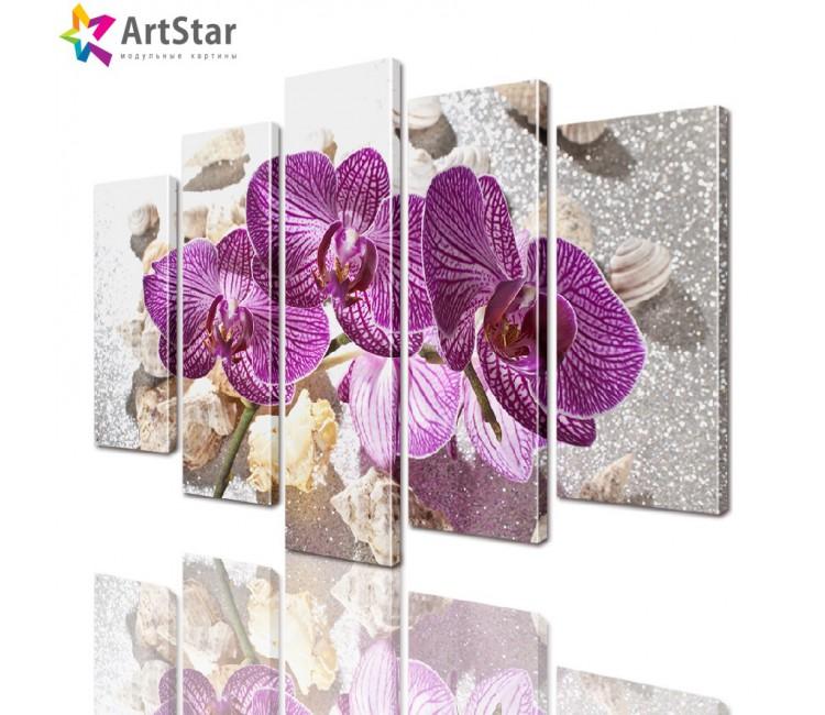 Модульные картины - Красивая орхидея, Art. flrs_0225