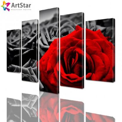 Модульные картины - Розы, Art. flrs_0236