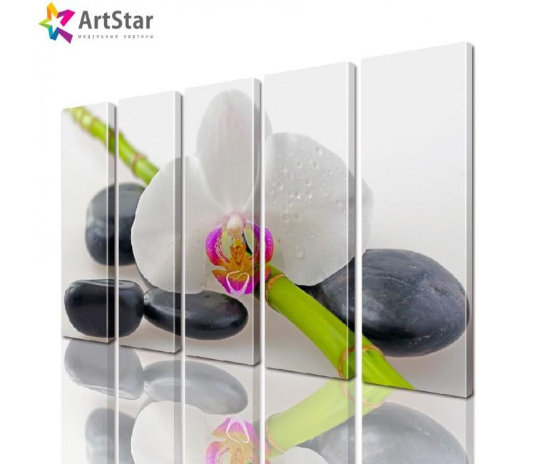 Модульная картина - Цветы, Art. flrs_0182