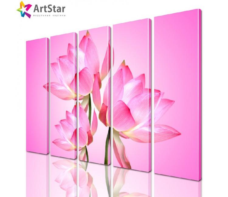 Модульная картина - Цветы, Art. flrs_0184