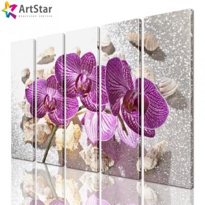 Модульная картина - Цветы, Art. flrs_0185