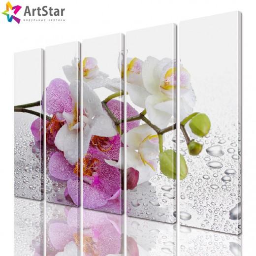 Модульная картина - Цветы, Art. flrs_0186