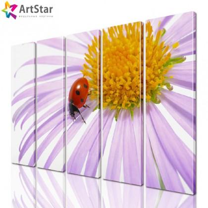 Модульная картина - Цветы, Art. flrs_0189