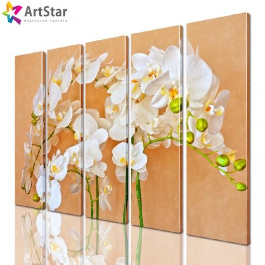 Модульная картина - Цветы, Art. flrs_0192
