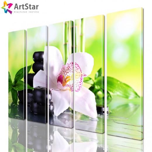 Модульная картина - Цветы, Art. flrs_0193