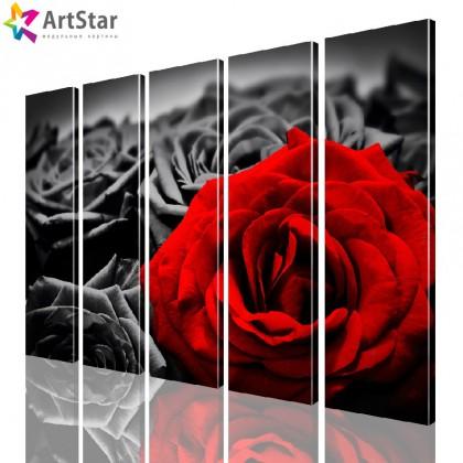 Модульная картина - Цветы, Art. flrs_0196