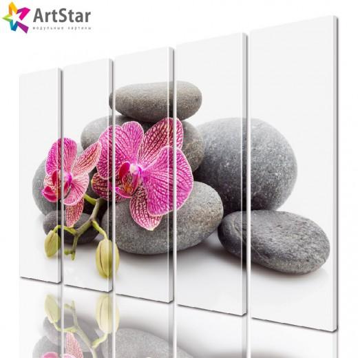 Модульная картина - Цветы, Art. flrs_0198