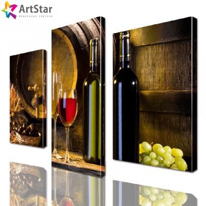 Модульная картина - Вино, Art. kit_0032
