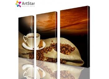 Модульная картина - Кофейный натюрморт, Art. kit_0034