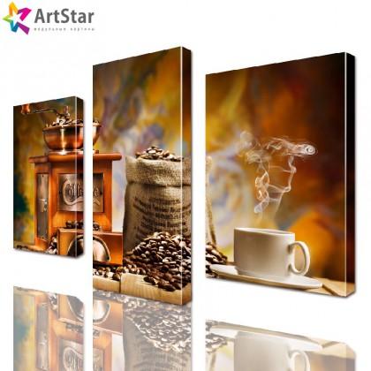 Модульная картина - для кухни Кофе, Art. kit_0035