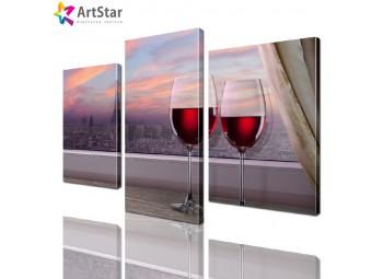 Модульная картина - Бокалы с вином, Art. kit_0038